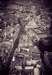 Looking down on London (steven.kemp) Tags: london cheesegrater st pauls city cityscape urban street river thames poultry royal exchange cornhill threadneedle bank england cannon
