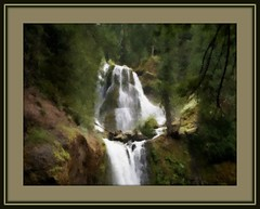 Falls Creek Falls (edenseekr) Tags: photopainting digitallypainted waterfall