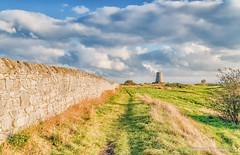 Cleadon Hills Mill (robinta) Tags: historic ancient windmill landscape wall stone clouds sky cleadon pentax sigma18200mmhsmc ks1 grass colour vibrant field