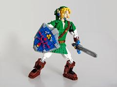 Link hyped for some action (NKubate) Tags: lego ideas link zelda nintendo nkubate hero mastersword