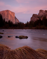 Valley View Afterglow (Jeffrey Sullivan) Tags: sunset yosemite valley national park california usa landscape nature canon photo copyright november 2010 jeff sullivan valleyview yosemitevalley gates pink