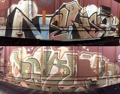 Nekst Jerms (MC. Squared) Tags: bnsf freight train graffiti a2m jerms nekst