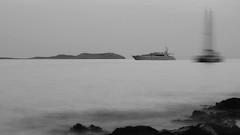 Ghost ship (Erich Hochstger) Tags: geisterschiff ghostship schiff ship meer sea landschaft landscape seascape langzeitbelichtung longexposure sw bw ibiza eivissa