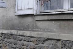 Fontenay 94 rue rosny 2008 (patrickdeby) Tags: sarkozy pouvoir achat craie mur