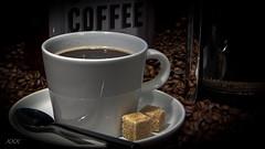 It's coffee o'clock (babs van beieren) Tags: lowkey coffee sugar brown warm cozy coffeebeans breakfast morning pause