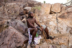Unmarried Himba Man 4030 (Ursula in Aus) Tags: africa namibia offcameraflash himba portrait male