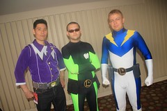 Polar Boy, Mater Eater Lad, and Lightning Lad (Adam Antium) Tags: dragon con convention 2015 lightning lad legion superheroes super hero heroes costume cosplay costumes dc comic comics books book spandex lycra tight tights adam antium polar boy matter eater photoshoot photo shoot