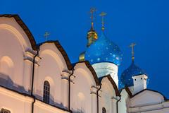 Annunciation Cathedral, Kazan Kremlin, Russia (Oleg.A) Tags: autumn cathedral sunset kremlin street twilight church city kazan russia evening tatarstan oldtown catedral town  respublikatatarstan ru