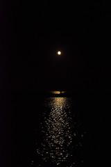 Moonlight Shadow (jopperbok) Tags: jopperbok moon light reflection water night ijsselmeer harbor kreupel island andijk netherlands sailing minimal minimalsunday minimalism dark black circle