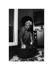 loading cabbage (Marek Pupk) Tags: central europe slovakia monochrome old woman blackandwhite bw documentary film analog ilford xp2 canon