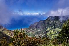 NaPali Coast, Kauai (AgarwalArun) Tags: sonya7m2 sonyilce7m2 hawaii kauai island landscape scenic nature views mountain fog clouds storm weather napalicoast pacificocean ocean water waves surf napali ruggedcoastline cliffs pu'uokilalookout