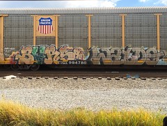 Bars Waydo (MC. Squared) Tags: freight train graffiti autorack mvp koc moms tpg waydo bars barsoh barzoh