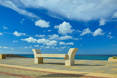 CORNINO....(TRAPANI-SICILIA) (S.Torrisi@ph) Tags: cornino trapani sicilia sicily infinito infinity prospettive nuvole panchine mare sea blu