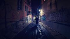 My way down (Joo Cruz Santos) Tags: night nightphotography nightstreetphotography street streetphotography city lisbon lisboa bica portugal