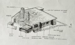 Lifeboat House 1900c Sibley Sketch Detailing Use Of Rooms Page 303 S00412 (Formby Civic Society) Tags: formby merseyside lifeboat lifeboathouse plans rooms lifeboatcottage demolished