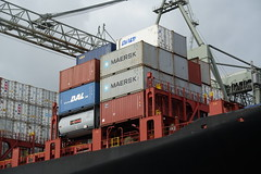Container terminal @ Harbour Tour @ Spido @ Rotterdam (*_*) Tags: rotterdam netherlands nederland city europe october autumn fall 2016 cloudy morning spido nieuwemaas river cruise boat ship harbour tour container cargo transshipment harbor port