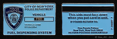 "NYPD Fuel Dispensing System ""Vehicle"" Card Coin (Nate_892) Tags: nypd challenge coin new york police"