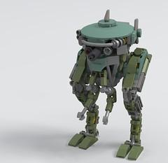 Diatryma (_bidlopavidlo_) Tags: lego ldd digital designer robot tank walker mech power armour cannon war battle