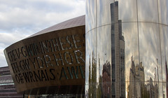 (Molly Sanborn) Tags: travel explore wales united kingdom uk europe photography urban cardiff architecture building city millennium centre water tower bay reflection