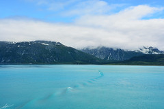 Glacier Bay (abridwellphoto) Tags: sky white clouds cruise travel teal green blue mountain water alaska
