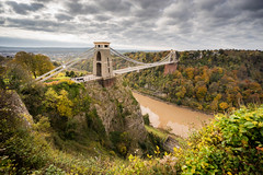 Autumn Crossover (Paul C Stokes) Tags: clifton suspension bridge cliftonsuspensionbridge bristol uk united kingdon river avon gorge high tide autumn sony a7r zeiss 1635 lee filter 9 morning hightide leegrad changingcolour changing colour color clouds perspective depth isambard kingdom brunel isambardkingdombrunel landscape photography landscapephotography autumcolour autumncolor autumnal