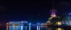 Embarcadero de legazpi (Hendraxu) Tags: night panorama pier port embarcadero long exposure albay bicol legazpi mayon traveller touristspot traveldestination blue hour bluehour