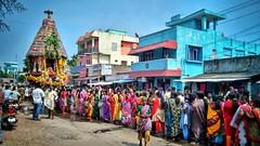 Hindu Temple Festival (Ivon Murugesan) Tags: outdoor people places travel mamallapuram mahabalipuram tamilnadu festival festivity tamilfestival templefestival hindufestival hindu chariotfestival chariot carfestival car crowd mass movement flickrtravelaward