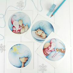 Jolly Jingles Christmas cards_4 (jac.cheekymonkeystudio) Tags: christmas christmascard xmascard holidaycard whimsical cute kidschristmas cutechristmas whimsicalchristmas animals whimiscalanimals reindeer santa robin stationary stationery