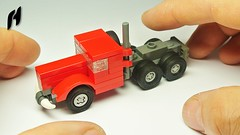 How to Build a Lego Truck (MOC) (hajdekr) Tags: lego small 3studs microscale micro simple toy moc myowncreation creation inspiration truck camion vehicle automobile transport spedition 3x semitrailer tractor tractortruck tutorial assemblyinstructions guide buildingguide instruction instructions stepbystep help tip tuto manual