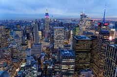NYC (angeljimenez) Tags: nyc newyork sunset city cityscape skyline esb emiprestatebuilding