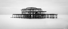 Steel Art. (_Anathemus_) Tags: island steel brighton west pier long exposure high key black white blackandwhite nikon d750 bw sussex uk england coast landscape atmospheric moody