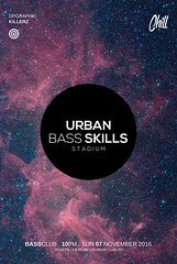 Urban Bass Skills Poster PSD (DesignerwooArt) Tags: 300dpi 3d abstract advertising alien alternative artwork bass broken city cmyk design dj dope download drum electro event fest festival flyer free future futuristic galaxies galaxy geometry high hiphop house invitation man manipulation minimal minimalist minimalistic modern music party photoshop poster print psd rap rock sky smoke sound sounds space tech techno template trap triangle triangles trippy universe urban dubstep geometrix art hipster robot