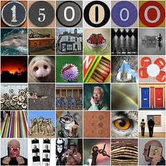 Milestone - 150,000 public photos uploaded to flickr (Leo Reynolds) Tags: xleol30x fdsflickrtoys photomosaic milestone 1500000