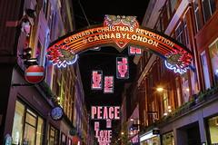 Carnaby Street (Eugene Regis) Tags: london christmas christmaslights hdr hdrphotography