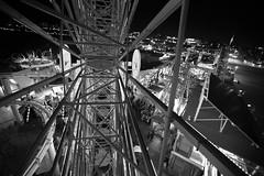 Black and White (Stephanielii97) Tags: blackandwhite bw detail alone night nighttime nighttimephotography santamonica ferriswheel afterdark