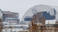 GOV42821 (avgusew) Tags: chernobyl disaster plant nuclear object power arch shelter reactor sarcophagus energy landscape view building construction air photo over station safe explosion aerial infrastructure fourth ukrainian atomic catastrophe tragedy pant confinement anniversary april ukraine kiev 2016 radiation radioactive