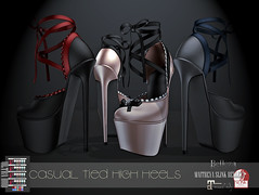 CASUAL TIED HIGH HEELS (Insomnia Store) Tags: insomniastore is secondlife sl fashion elegance classic high heels sexy casual sensual tied laced ribbons shoes maitreya belleza slink