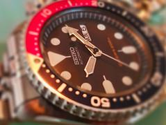 The Arrows of Time (DigitalLUX) Tags: arrow macromondays macro time bokeh closeup monday red blue watch timepiece hourhand