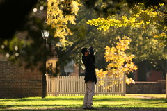 Photographing the photographer (William & Mary Photos) Tags: williamandmary wm williammary collegeofwilliamandmary collegeofwilliammary grounds scenery fall