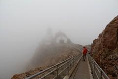 Into the Fog (Jane Inman Stormer) Tags: ocean california park cliff lighthouse weather fog grey pacific steps historic pointreyesnationalseashore pointreyeslight