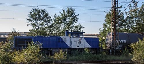 20.09.2005 Oberhausen West Stellwerk Orw. duisport rail 207 077