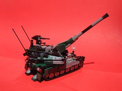 Type 11 Deployed (Matt Hacker) Tags: self gun lego military vehicle propelled tracked moc howitzer