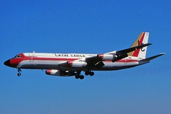 Latin Carga Convair 880-22-2 landing at KMIA (GeorgeM757) Tags: classic airplane aircraft aviation landing convair kmia miamiinternational cv880 georgem757 cv880222 latincarga yv145c