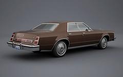 1977 Mercury Cougar 4-Door Sedan (Robin'7t4) Tags: 3d mercury render 1977 cougar