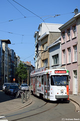 Antwerpen (B), 22.08.15, PCC-Triebwagen 7049 auf Linie 12