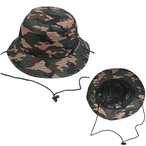 117f57bfe6c Special pre order 2-3weeks NEWERA OUTDOOR WATERPROOF BUCKET HAT WOODLAND  CAMO