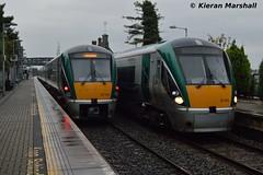 22005 departs Portlaoise, 14/9/15 (hurricanemk1c) Tags: irish train rail railway trains railways irishrail rok rotem 22005 portlaoise 2015 icr iarnród 22000 éireann iarnródéireann 3pce 1825portlaoiseheuston