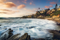 Moss Cove (mnlphotography) Tags: ocean longexposure travel sunset seascape beach clouds landscape waves sony tokina adventure explore orangecounty oc tides lagunabeach tokinaaf1224mmf4 a6000 sonya6000