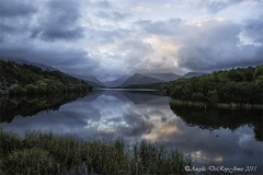 Sunrise Llyn Padarn 250915 (angeladj1) Tags: lake mountains clouds sunrise northwales llynpadarn