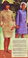 Aldens 69 ss tan and purple (jsbuttons) Tags: 1969 clothing mod 60s buttons womens catalog 69 sixties aldens vintagefashion